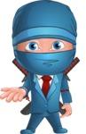 Businessman dressed as Ninja Cartoon Vector Character AKA Hideki - Lost 2