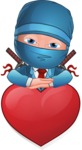 Businessman dressed as Ninja Cartoon Vector Character AKA Hideki - Show Love