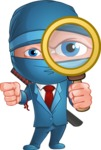 Businessman dressed as Ninja Cartoon Vector Character AKA Hideki - Search