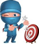 Businessman dressed as Ninja Cartoon Vector Character AKA Hideki - Target