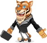 Tiger Businessman Vector Cartoon Character AKA Vice Tiger - Briefcase 1