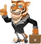 Tiger Businessman Vector Cartoon Character AKA Vice Tiger - Briefcase 2
