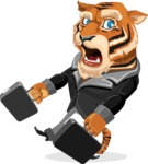 Tiger Businessman Vector Cartoon Character AKA Vice Tiger - Briefcase 3