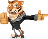 Tiger Businessman Vector Cartoon Character AKA Vice Tiger - Direct Attention 2