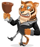 Tiger Businessman Vector Cartoon Character AKA Vice Tiger - Meat
