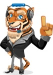 Tiger Businessman Vector Cartoon Character AKA Vice Tiger - Support 2