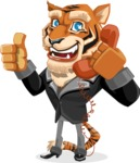 Tiger Businessman Vector Cartoon Character AKA Vice Tiger - Support