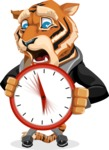 Tiger Businessman Vector Cartoon Character AKA Vice Tiger - Time is Yours