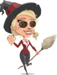 Pretty Blonde Witch Vector Cartoon Character AKA Ophelia the Biz Witch - Being Cool Witch
