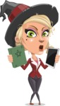 Pretty Blonde Witch Vector Cartoon Character AKA Ophelia the Biz Witch - Choosing Between Modern and Oldschool