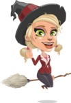 Pretty Blonde Witch Vector Cartoon Character AKA Ophelia the Biz Witch - Making Thumbs Up