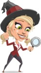 Pretty Blonde Witch Vector Cartoon Character AKA Ophelia the Biz Witch - Searching