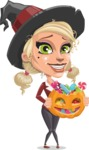 Pretty Blonde Witch Vector Cartoon Character AKA Ophelia the Biz Witch - Trick Or Treating