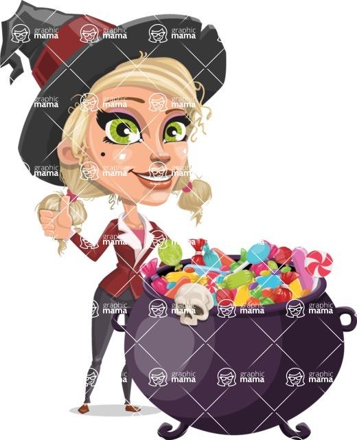 Ophelia the Biz Witch - Cauldron With Sweets