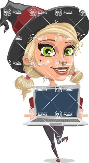 Ophelia the Biz Witch - Laptop 2