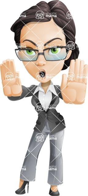 Formally dressed female cartoon character ultimate vector pack - Rita Heels - Stop2