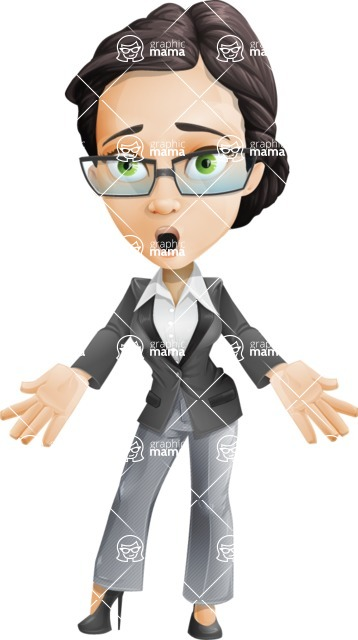 Formally dressed female cartoon character ultimate vector pack - Rita Heels - Stunned