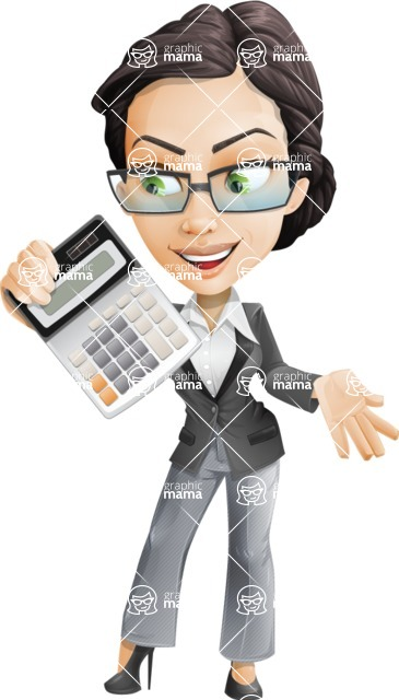 Formally dressed female cartoon character ultimate vector pack - Rita Heels - Calculator