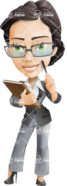 Formally dressed female cartoon character ultimate vector pack - Rita Heels - Book1