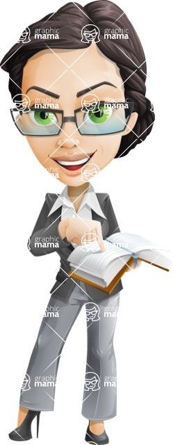 Formally dressed female cartoon character ultimate vector pack - Rita Heels - Book2