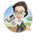 Vector Stylish Office Woman Cartoon Character - Shape2
