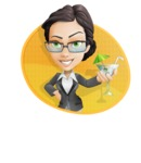 Vector Stylish Office Woman Cartoon Character - Shape4