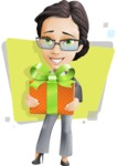 Vector Stylish Office Woman Cartoon Character - Shape5