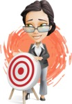Vector Stylish Office Woman Cartoon Character - Shape12