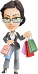 Vector Stylish Office Woman Cartoon Character - Sale