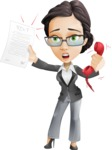 Vector Stylish Office Woman Cartoon Character - Office Fever
