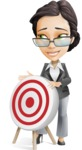 Vector Stylish Office Woman Cartoon Character - Target