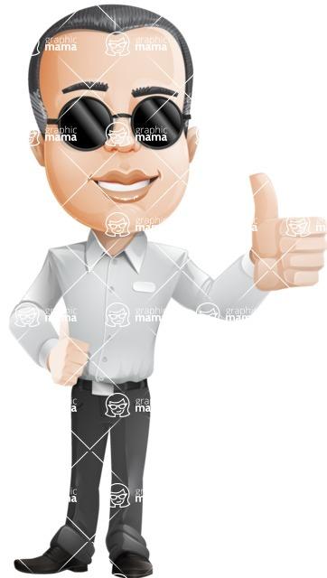 Dominic White-Collar - Sunglasses