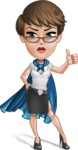 Business Woman Superhero Cartoon Vector Character AKA Madame Supernova - Normal