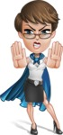 Business Woman Superhero Cartoon Vector Character AKA Madame Supernova - Stop 2