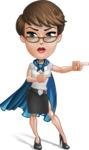 Business Woman Superhero Cartoon Vector Character AKA Madame Supernova - Point 2