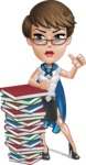 Business Woman Superhero Cartoon Vector Character AKA Madame Supernova - Books