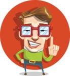 16 Illustrations of Free Geek Vector Character - Up for a challenge