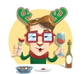16 Illustrations of Free Geek Vector Character - Festive mood