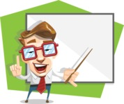 16 Illustrations of Free Geek Vector Character - Smarty presenter