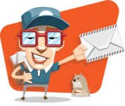 16 Illustrations of Free Geek Vector Character - You've got mail