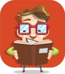 16 Illustrations of Free Geek Vector Character - Thirst for knowledge