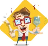 16 Illustrations of Free Geek Vector Character - Cheers!