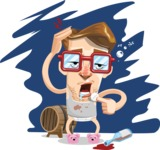 16 Illustrations of Free Geek Vector Character - Hangover