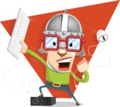 16 Illustrations of Free Geek Vector Character - Attack!