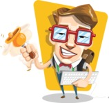 16 Illustrations of Free Geek Vector Character - Back to school