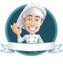Cartoon Cook Vector Character AKA Mangiarino Yummy - Restaurant Banner Design Template