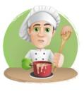 Cartoon Cook Vector Character AKA Mangiarino Yummy - Cooking Illustration Graphic