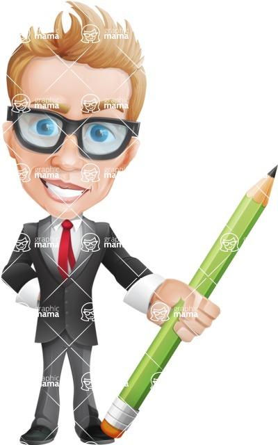 Dan as Mr. Determined - Pencil