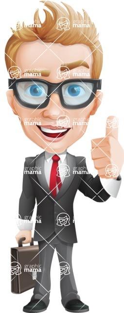 Dan as Mr. Determined - Briefcase