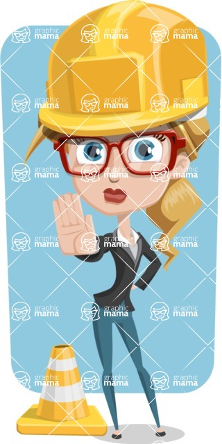 Female Cartoon Character АКА Pam the Lucky Charm - With Simple Rounded Background